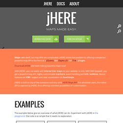 jHERE - Maps Made Easy