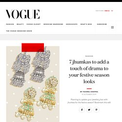 Jhumkas for Diwali to Add a Touch to Your Festive Looks at Vogue India