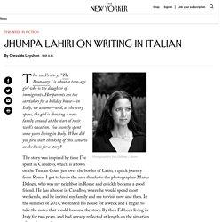 Jhumpa Lahiri on Writing in Italian