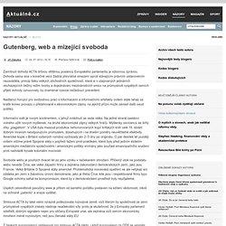 Jiří Zlatuška » Gutenberg, web a mizející svoboda
