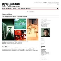 Architects - Chendu - Architects | chinese-architects.com