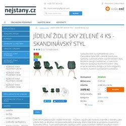 Jídelní židle SKY zelené 4 ks