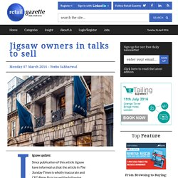 Jigsaw owners in talks to sell