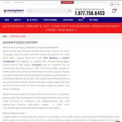 Jigsaw Puzzle History
