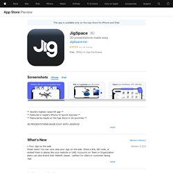 JigSpace on the AppStore