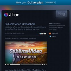 Blog - SublimeVideo Unleashed!