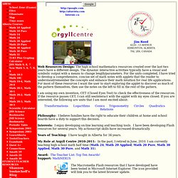Jim Reed's Home Page (Interactive Activities)