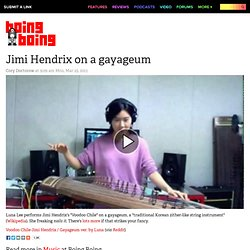 Jimi Hendrix on a gayageum
