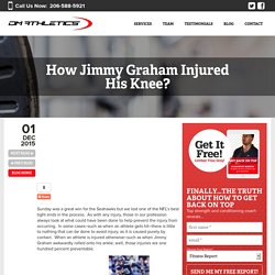 Jimmy Graham Injured His Knee? - DM athletics