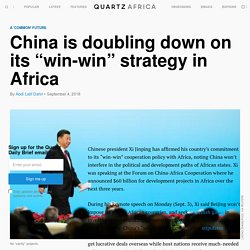 """China-Africa summit: Xi Jinping cautions against """"vanity projects"""" — Quartz Africa"""