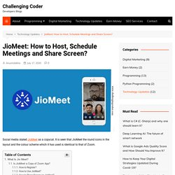 JioMeet: How to Host, Schedule Meetings and Share Screen?