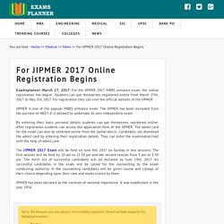 JIPMER 2017 Online Registration Begins