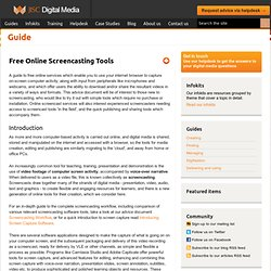 Cross-media: Free Online Screencasting Tools