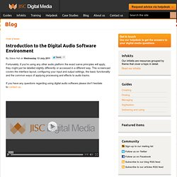 Introduction to the Digital Audio Software Enviroment