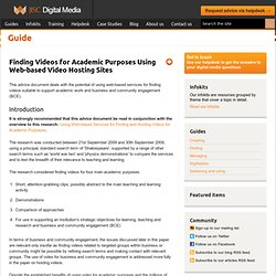 Moving Images: Finding Videos for Academic Purposes Using Web-based Video Hosting Sites