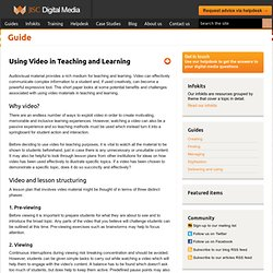 About video learning...