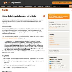 JISC Guide... Using digital media for your eportfolio