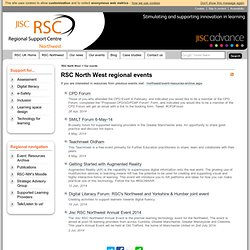 JISC RSC > RSC North West regional events