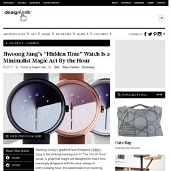 """Jiwoong Jung's """"Hidden Time"""" Watch Is a Minimalist Magic Act By the Hour"""