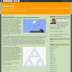JJinuxLand: Drawing Sierpinski's Triangle in Minecraft Using Python