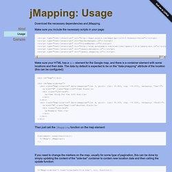 jMapping: Usage