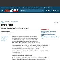 JMeter tips