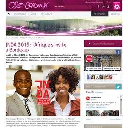 JNDA 2016 : l'Afrique s'invite à Bordeaux