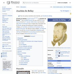 Joachim du Bellay 1522-1560