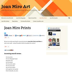 Joan Miro Prints | Joan Miro Art