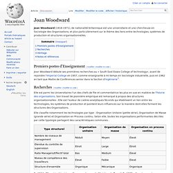 Joan Woodward
