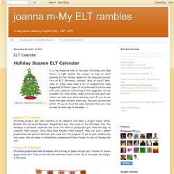 ELT Calendar