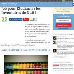 Job pour Étudiants : les Inventaires de Nuit !