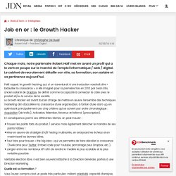Job en or : le Growth Hacker