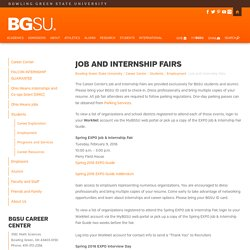 Job and Internship Fairs