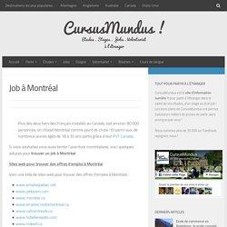 Job à Montréal