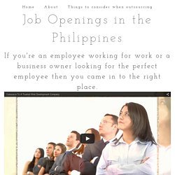 Job Openings in the Philippines