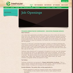 Job Openings - Treehouse Treehouse
