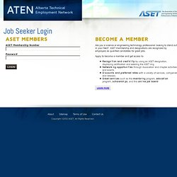Job Seeker Login - ASET Job Board