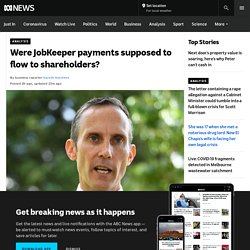 Were JobKeeper payments supposed to flow to shareholders?