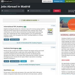 Jobs Abroad in Madrid