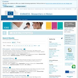 Jobs - EURAXESS - European Commission