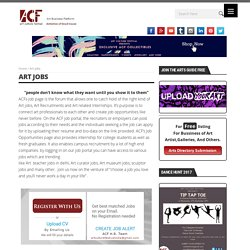 Jobs - find at Art Culture Festival (ACF)