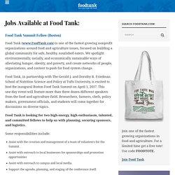 Jobs – Food Tank