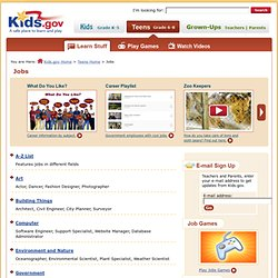 Careers (Grades 6 - 8) | Kids.gov