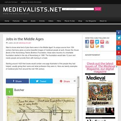 Jobs in the Middle Ages