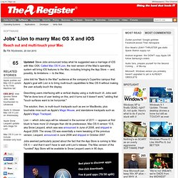 Jobs' Lion to marry Mac OS X and iOS