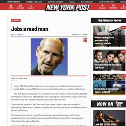 Jobs a mad man - m.NYPOST.com