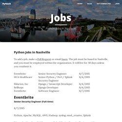 Jobs - PyNash