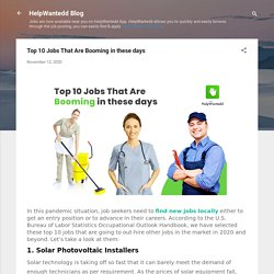 Top 10 Jobs That Are Booming in these days