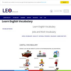 Jobs and work Vocabulary - Learn English Vocabulary